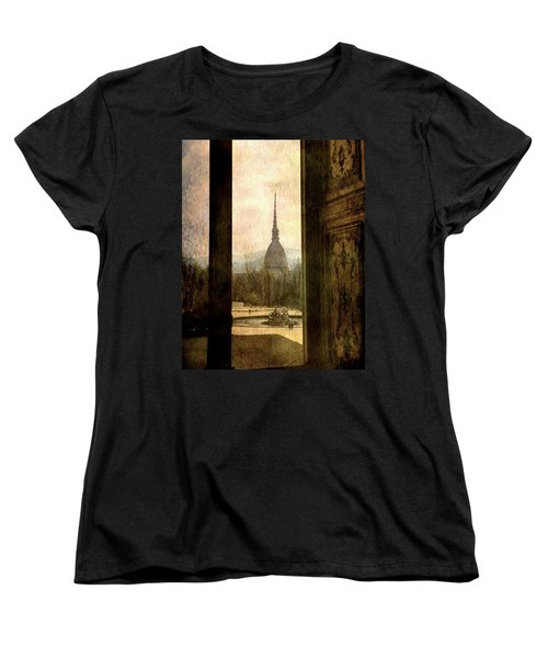 Watching Antonelliana Tower From The Window Women's T-Shirt (Standard Cut) by Vittorio Chiampan