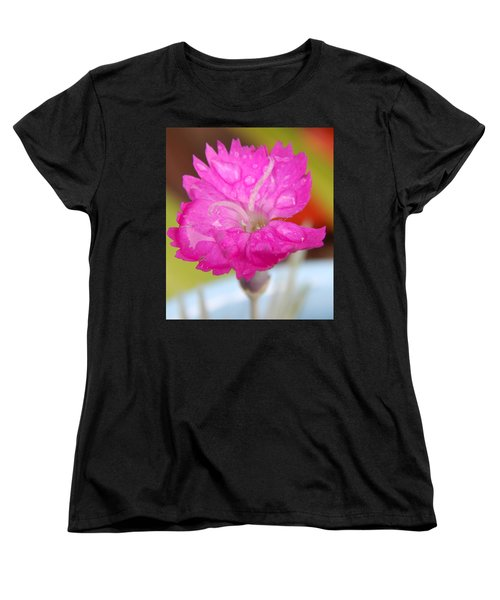 Water Bug Flower Women's T-Shirt (Standard Cut) by Samantha Thome