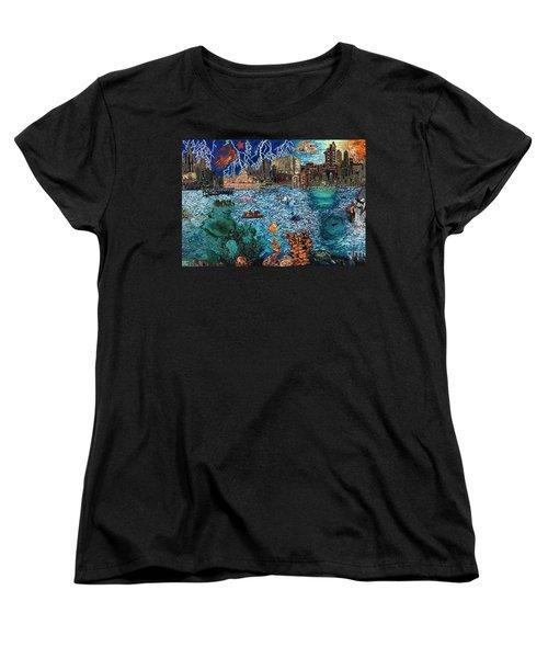 Water City Women's T-Shirt (Standard Cut) by Emily McLaughlin