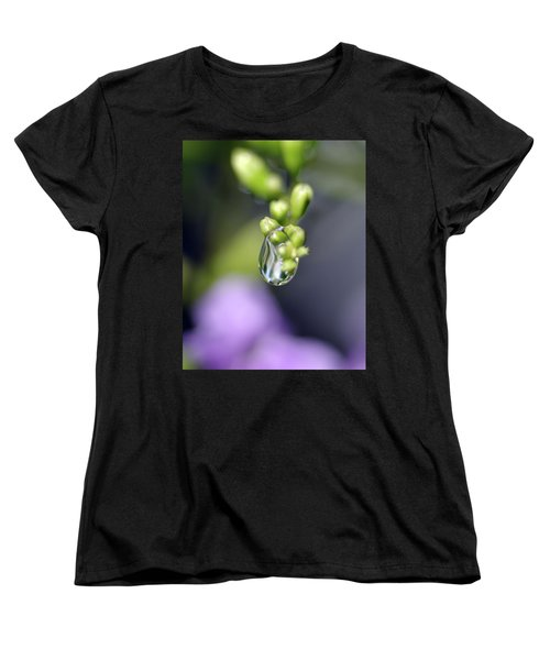 Water Droplet Iv Women's T-Shirt (Standard Cut) by Richard Rizzo
