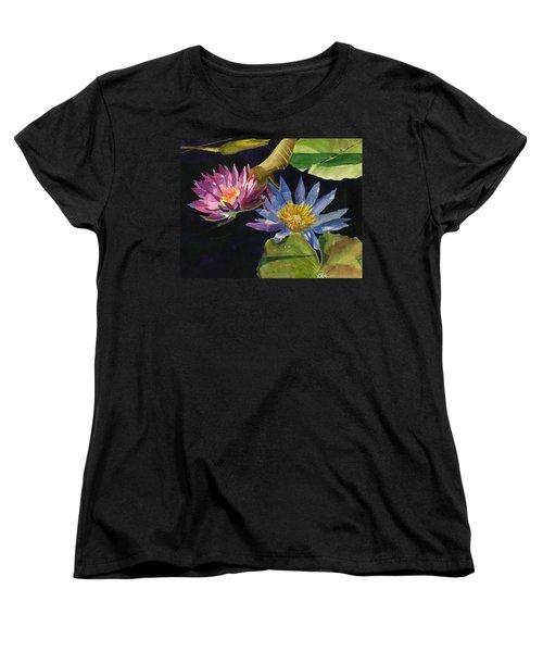 Water Lilies Women's T-Shirt (Standard Cut) by Lynne Reichhart