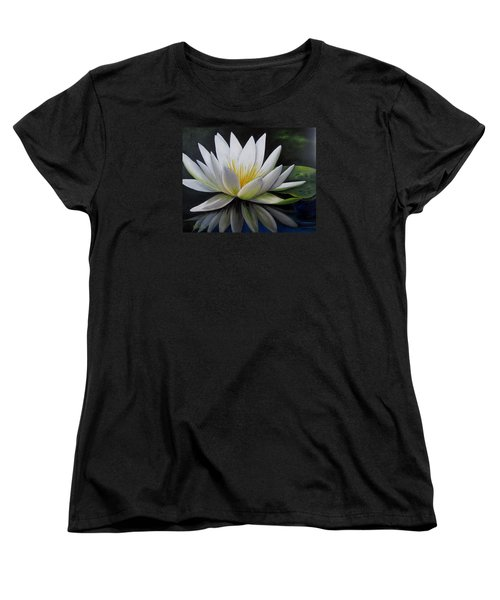 Water Lilly  Women's T-Shirt (Standard Cut) by Katia Aho