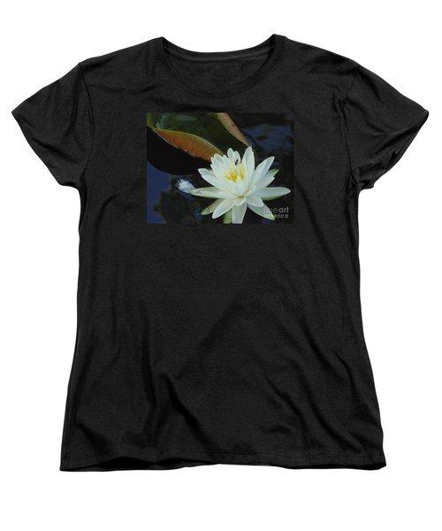 Water Lily Women's T-Shirt (Standard Cut) by Daun Soden-Greene