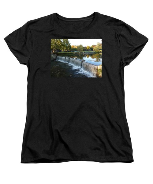 Water Over The Dam Women's T-Shirt (Standard Cut) by Joel Deutsch