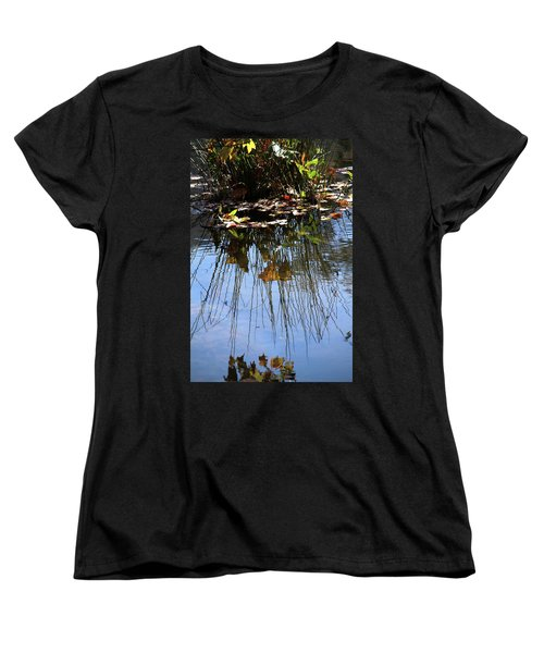 Water Reflection Of Plant Growing In A Stream Women's T-Shirt (Standard Cut)