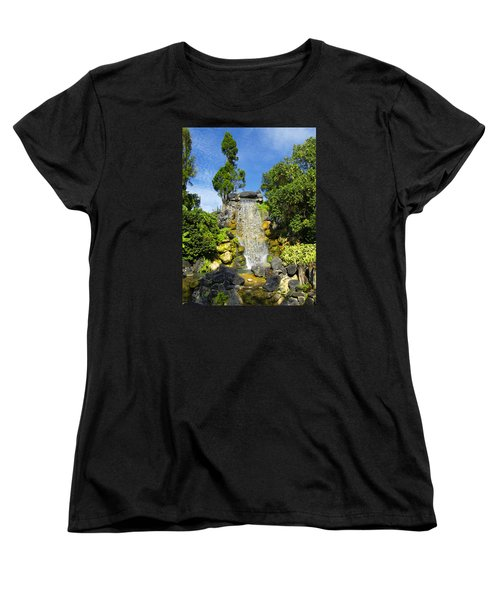 Women's T-Shirt (Standard Cut) featuring the photograph Water Works by Barbara Middleton