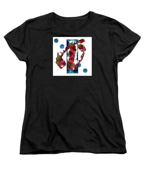 Watercolor Abstract 1 Women's T-Shirt (Standard Cut) by Kandy Hurley