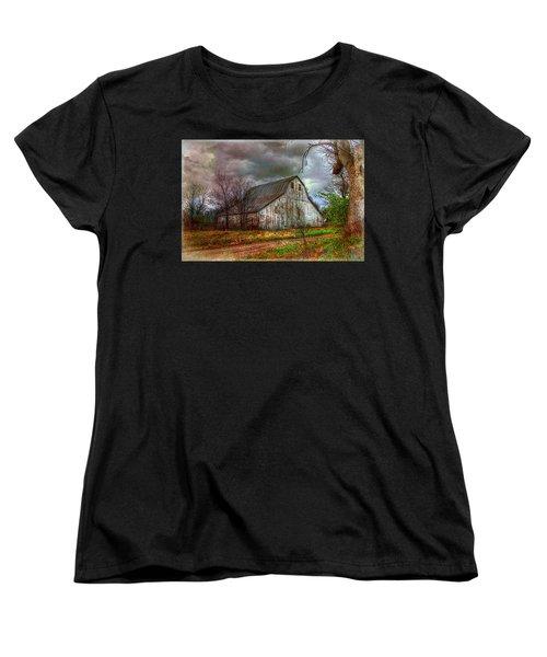 Watercolor Barn 2 Women's T-Shirt (Standard Cut) by Karen McKenzie McAdoo