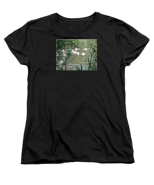 Waterfowl At The Park Women's T-Shirt (Standard Cut) by Mikki Cucuzzo