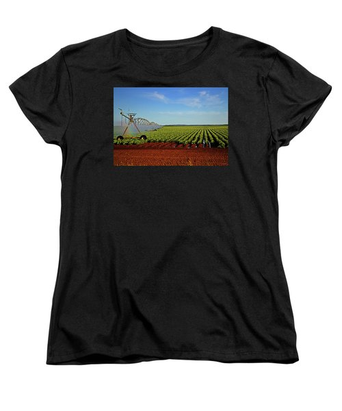 Women's T-Shirt (Standard Cut) featuring the photograph Watering The Garden 002 by George Bostian
