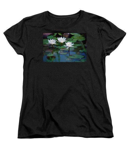 Waterlilys Women's T-Shirt (Standard Cut) by Robert Meanor
