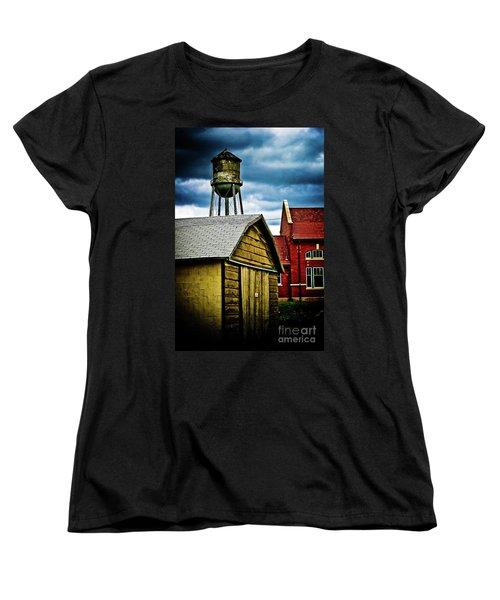 Waurika Old Buildings Women's T-Shirt (Standard Cut) by Toni Hopper