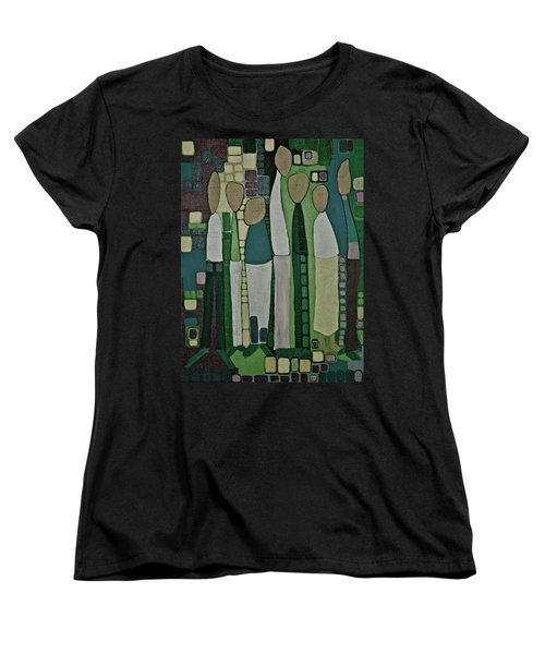 Women's T-Shirt (Standard Cut) featuring the painting We Miss You by Donna Howard
