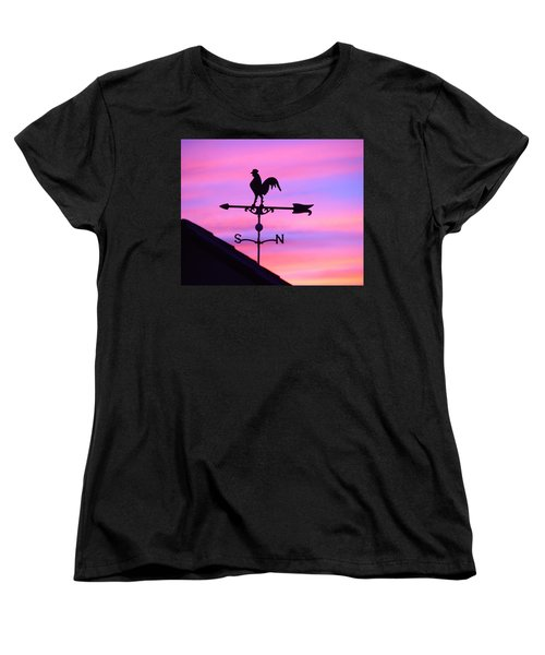Women's T-Shirt (Standard Cut) featuring the digital art Weather Vane, Wendel's Cock by Jana Russon