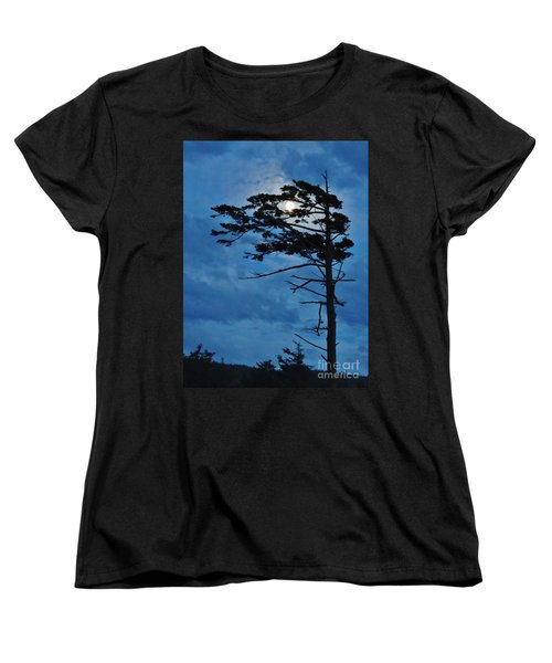 Weathered Moon Tree Women's T-Shirt (Standard Cut) by Michele Penner