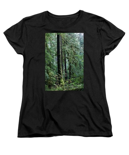 Welcome To The Woods Women's T-Shirt (Standard Cut) by Jane Eleanor Nicholas