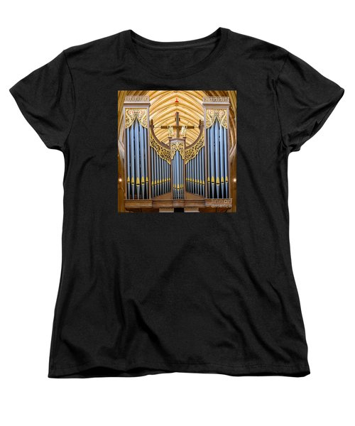 Wells Cathedral Organ Women's T-Shirt (Standard Cut) by Colin Rayner