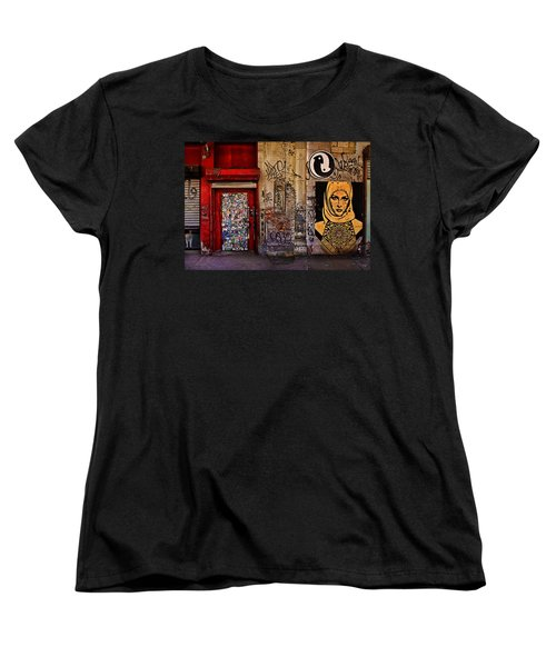 West Village Wall Nyc Women's T-Shirt (Standard Cut) by Chris Lord