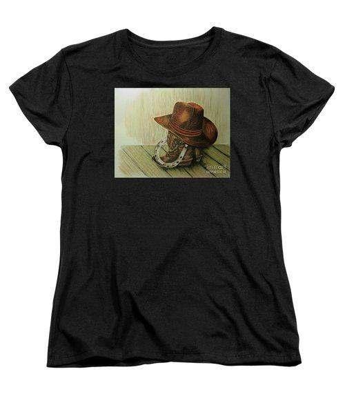 Western Wares Women's T-Shirt (Standard Cut) by Terri Mills