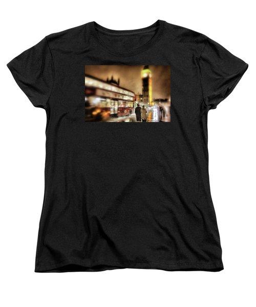 Westminster Bridge In Rain Women's T-Shirt (Standard Cut) by Jim Albritton