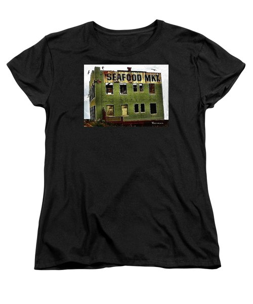 Women's T-Shirt (Standard Cut) featuring the photograph Westport Washington Seafood Market by Sadie Reneau