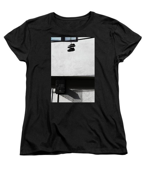Women's T-Shirt (Standard Cut) featuring the photograph What That For Me  by Empty Wall