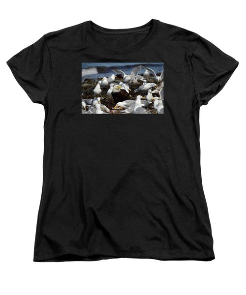 What The Tide Brings In The Birds Feed On Women's T-Shirt (Standard Cut) by Dacia Doroff