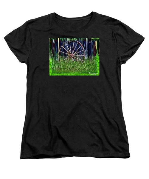 Women's T-Shirt (Standard Cut) featuring the photograph Wheel Of Fortune by EricaMaxine  Price