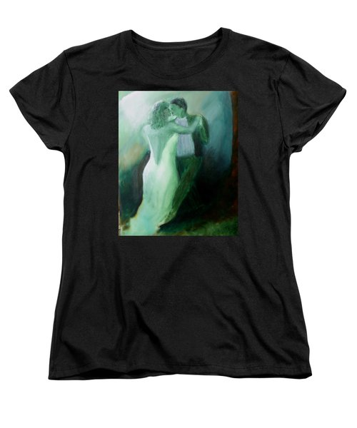 Women's T-Shirt (Standard Cut) featuring the painting Whispered Passion by Keith Thue