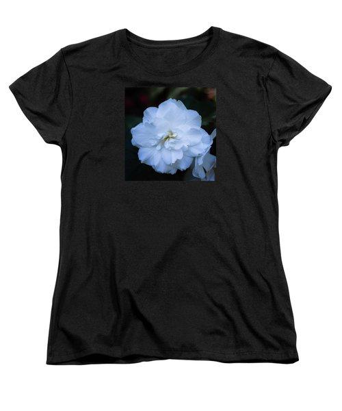 White As Snow Begonia Women's T-Shirt (Standard Cut)