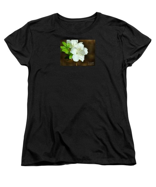 White Azalea  Women's T-Shirt (Standard Cut) by Rand Herron