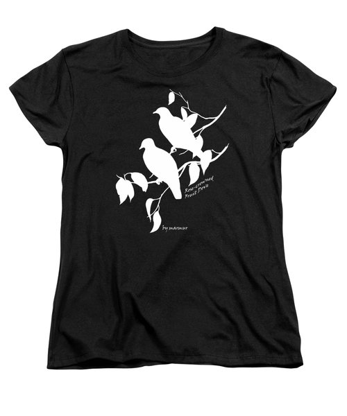 White Doves Women's T-Shirt (Standard Cut) by The one eyed Raven