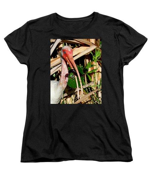 White Ibis Eating Crayfish Women's T-Shirt (Standard Cut)
