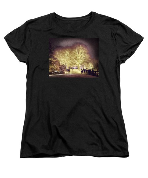 Women's T-Shirt (Standard Cut) featuring the photograph White Light Christmas by Phil Abrams