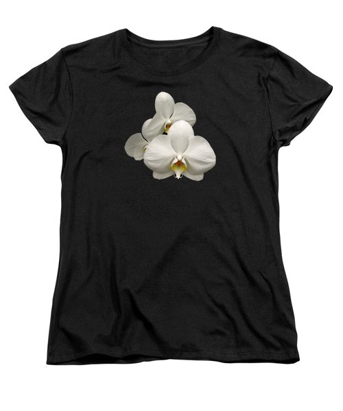 White Orchids Women's T-Shirt (Standard Cut) by Rose Santuci-Sofranko