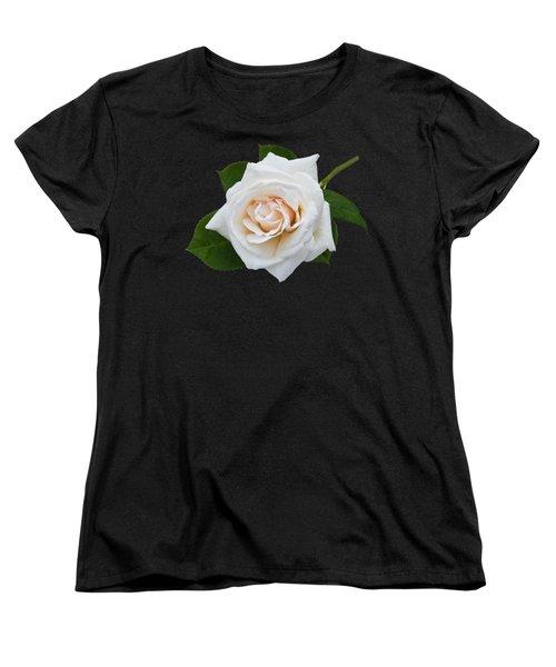 White Rose Women's T-Shirt (Standard Cut) by Jane McIlroy