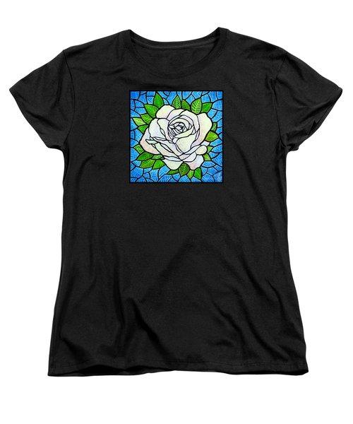 White Rose  Women's T-Shirt (Standard Cut) by Jim Harris