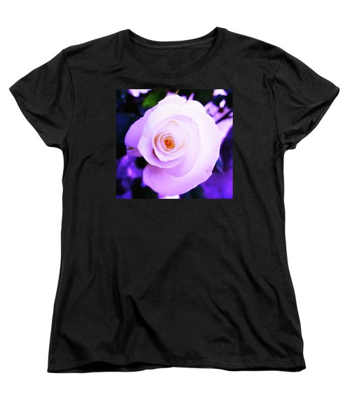 White Rose Women's T-Shirt (Standard Cut) by Mary Ellen Frazee