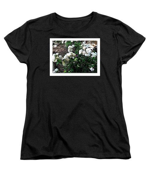 Women's T-Shirt (Standard Cut) featuring the photograph White Roses by Joan  Minchak