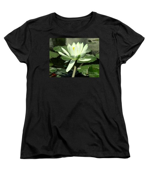 Women's T-Shirt (Standard Cut) featuring the photograph White Water Lily 1 by Randall Weidner