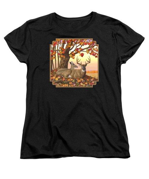 Whitetail Deer - Hilltop Retreat Women's T-Shirt (Standard Fit)