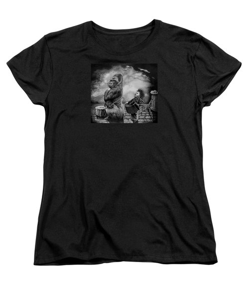 Women's T-Shirt (Standard Cut) featuring the drawing Why Did You Stop by Geni Gorani