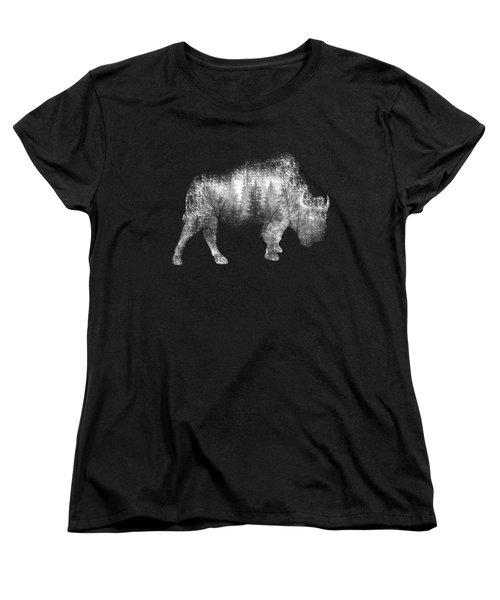 Wild Bison Women's T-Shirt (Standard Cut) by Diana Van