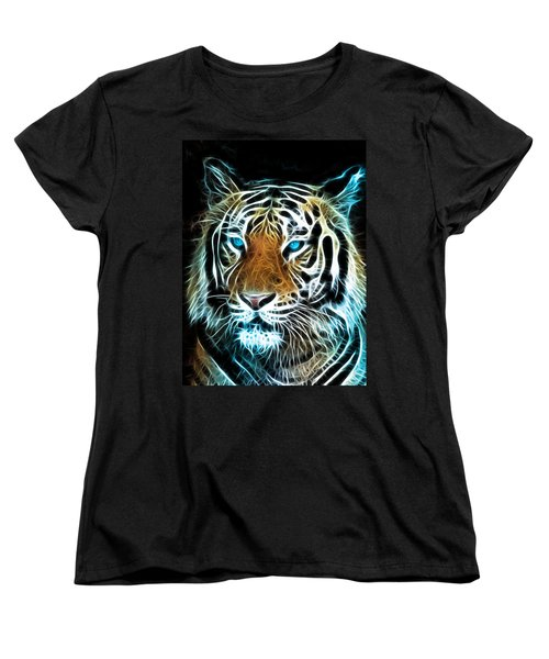 Women's T-Shirt (Standard Cut) featuring the digital art Wild Thang by Karen Showell
