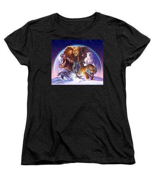 Wild World Women's T-Shirt (Standard Cut) by Jerry LoFaro