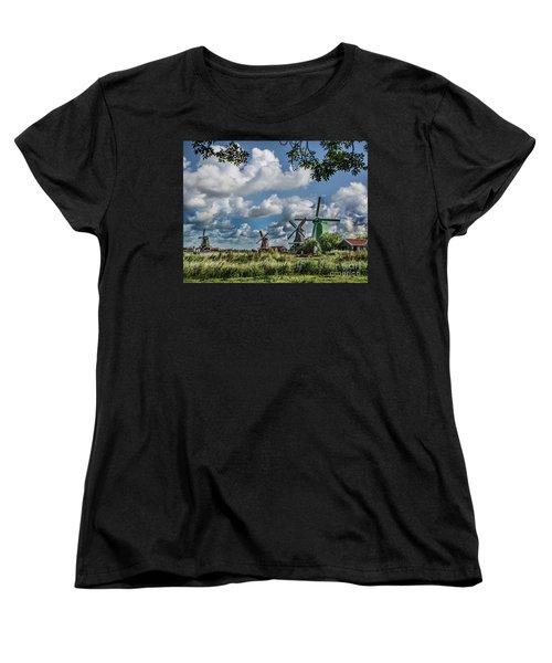 Windmills Of Holland Women's T-Shirt (Standard Cut)