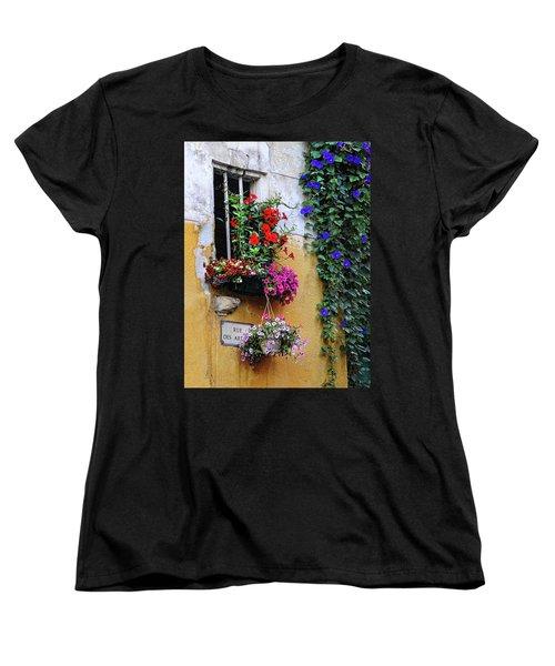 Window Garden In Arles France Women's T-Shirt (Standard Cut) by Dave Mills
