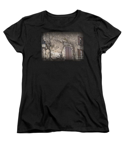 Women's T-Shirt (Standard Cut) featuring the photograph Windows Among The Vines by Victoria Harrington