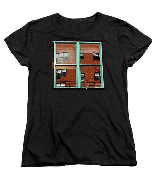 Windows In The Heights Women's T-Shirt (Standard Cut) by Sarah Loft