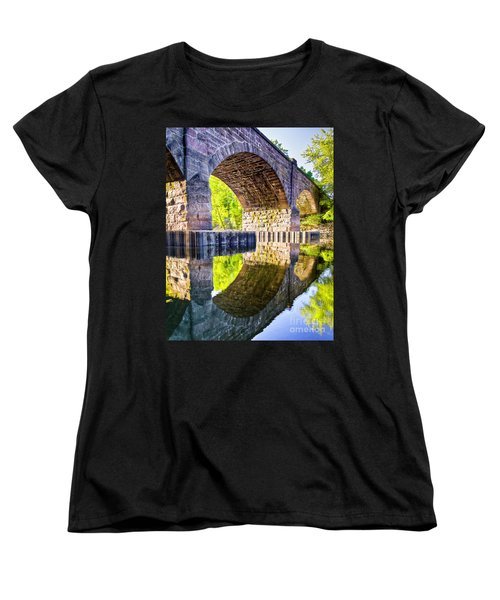 Women's T-Shirt (Standard Cut) featuring the photograph Windsor Rail Bridge by Tom Cameron